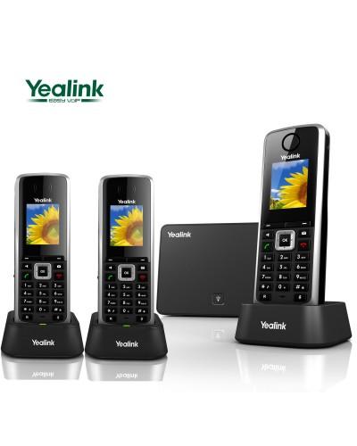 Yealink W52P-W52H — база x 1, трубка x 3 — Комплект беспроводной DECT SIP-телефон с радиотрубкой