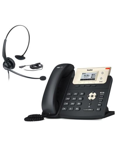 Yealink SIP-T21 E2 + YHS32 — IP-телефон SIP с гарнитурой. Комплект
