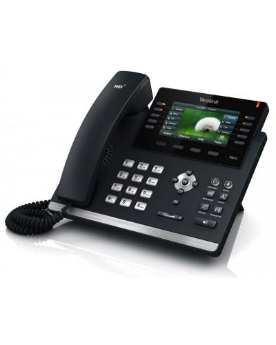 Yealink SIP-T46S - IP-телефон руководителя, 6 VoIP аккаунтов, HD voice, PoE