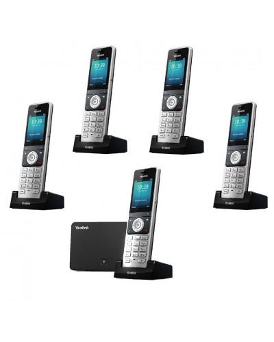 Yealink W56P-W56H — база x 1, трубка x 5 — Комплект беспроводной DECT SIP-телефон с радиотрубкой