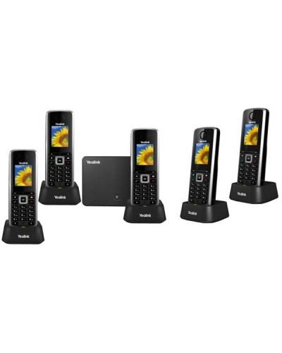 Yealink W52P-W52H — база x 1, трубка x 5 — Комплект беспроводной DECT SIP-телефон с радиотрубкой
