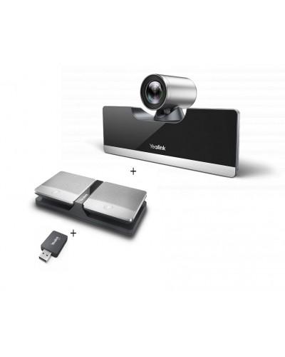 Yealink UVC50-Mic-2-Wireless - Комплект из USB PTZ-камеры, USB-адаптера и двух беспроводных микрофонов CPW90