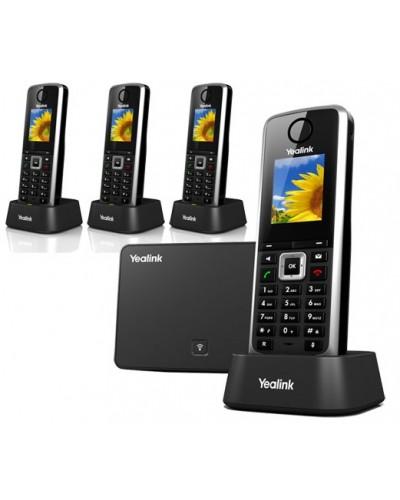 Yealink W52P-W52H — база x 1, трубка x 4 — Комплект беспроводной DECT SIP-телефон с радиотрубкой