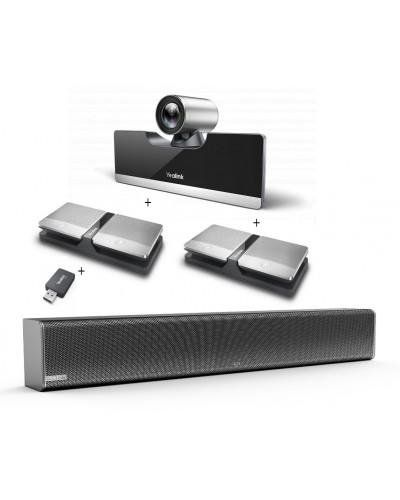 Yealink UVC50-Mic-4-Wireless - Комплект из USB PTZ-камеры, USB-адаптера, Саундбара Mspeaker II и четырех беспроводных микрофонов CPW90