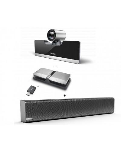 Yealink UVC50-Mic-2-Wireless - Комплект из USB PTZ-камеры, USB-адаптера, Саундбара Mspeaker  II  и двух беспроводных микрофонов CPW90