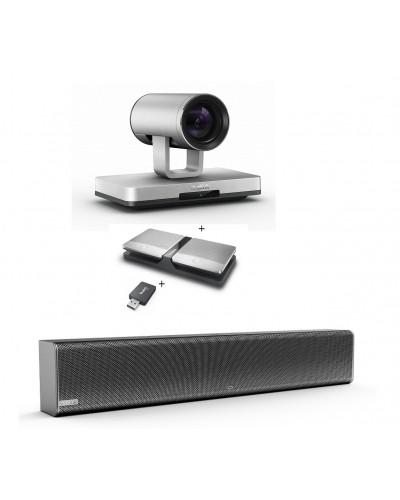 Yealink UVC80-Mic-2-Wireless - Комплект из USB PTZ-камеры, USB-адаптера, Саундбара Mspeaker II и двух беспроводных микрофонов CPW90
