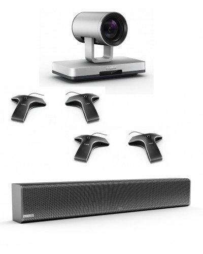 Yealink UVC80-Mic-4-Wired - Комплект из USB PTZ-камеры, Саундбара Yealink Mspeaker II и четырех микрофонов VCM34