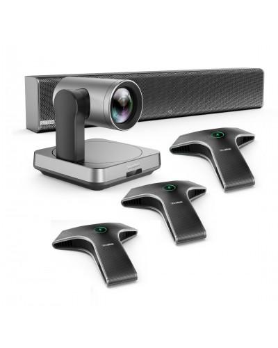 Yealink UVC84-mic-3-Wired - Комплект из USB PTZ-камеры, Саундбара Yealink Mspeaker II и трех микрофонов VCM34
