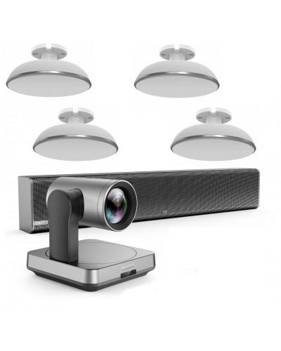Yealink UVC84-mic-4-Ceiling - Комплект из USB PTZ-камеры, Саундбара Mspeaker II и четырех микрофонных массивов VCM38