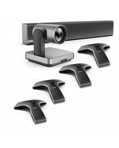 Yealink UVC84-mic-4-Wired - Комплект из USB PTZ-камеры, Саундбара Yealink Mspeaker II и четырех микрофонов VCM34