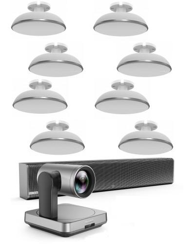 Yealink UVC84-mic-8-Ceiling - Комплект из USB PTZ-камеры, Саундбара Mspeaker II и восьми микрофонных массивов VCM38