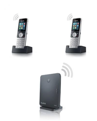 Yealink W53P-W53H — база x 1, трубка x 2 — Комплект беспроводной DECT SIP-телефон с радиотрубкой