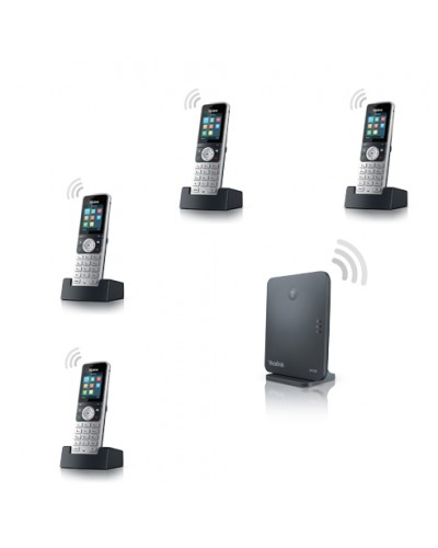 Yealink W53P-W53H — база x 1, трубка x 4 — Комплект беспроводной DECT SIP-телефон с радиотрубкой