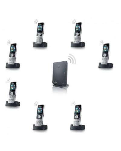 Yealink W53P-W53H — база x 1, трубка x 7 — Комплект беспроводной DECT SIP-телефон с радиотрубками
