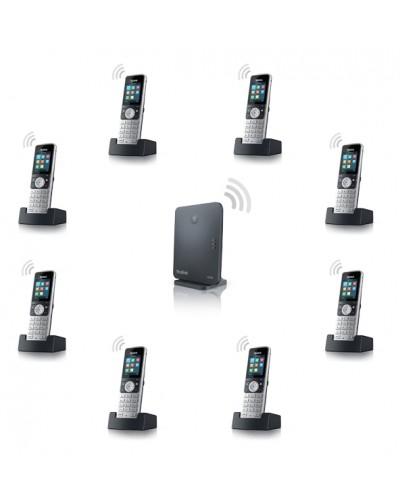 Yealink W53P-W53H — база x 1, трубка x 8 — Комплект беспроводной DECT SIP-телефон с радиотрубками