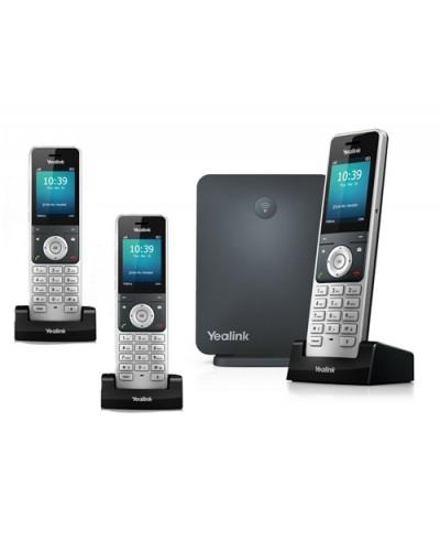 Yealink W60P-W56H — база x 1, трубка x 3 — Комплект беспроводной DECT SIP-телефон с радиотрубками