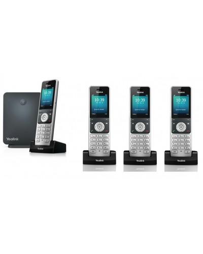 Yealink W60P-W56H — база x 1, трубка x 4 — Комплект беспроводной DECT SIP-телефон с радиотрубками