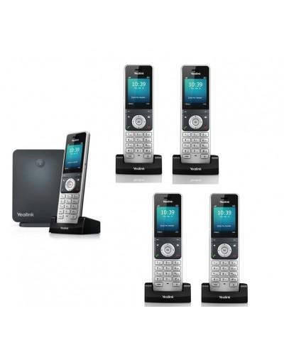 Yealink W60P-W56H — база x 1, трубка x 5 — Комплект беспроводной DECT SIP-телефон с радиотрубками