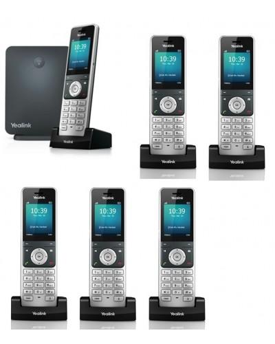 Yealink W60P-W56H — база x 1, трубка x 6 — Комплект беспроводной DECT SIP-телефон с радиотрубками