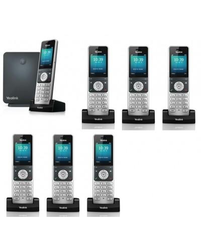 Yealink W60P-W56H — база x 1, трубка x 7 — Комплект беспроводной DECT SIP-телефон с радиотрубками