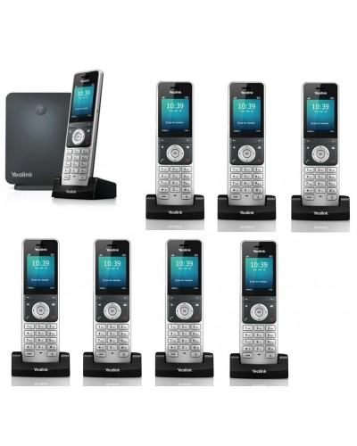 Yealink W60P-W56H — база x 1, трубка x 8 — Комплект беспроводной DECT SIP-телефон с радиотрубками